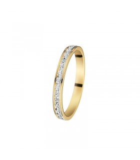Solitaire Or Blanc 0,15 ct